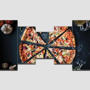Canvas Print Split Panels (5 in 1) – Pizza