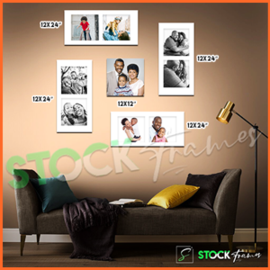 Canvas Prints Gallery Set Panels – 9 Images in 5 Frames