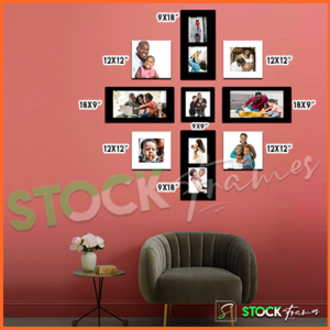 Canvas Prints Gallery Set Panels – 11 Images in 9 Frames