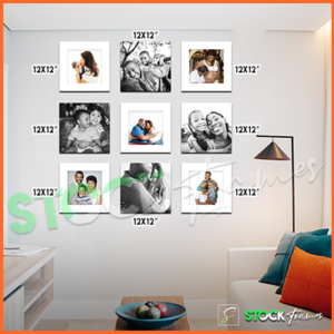 Canvas Prints Gallery Set Panels – 9 Images in 9 Frames