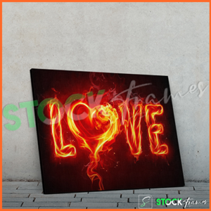 Canvas Prints Single Panels (Love) – 18×24, 40×40, etc.
