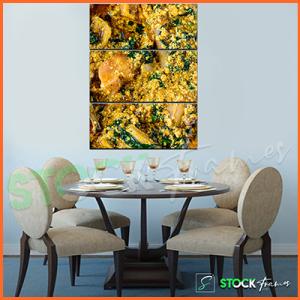 Canvas Prints Triptych – (3 Piece Egusi Soup Wall Art)