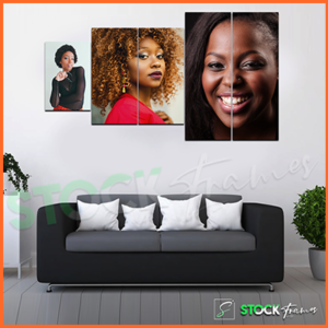 Split Canvas Prints in Nigeria (5 in 1 Panel- 3 Image Insert)