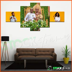 Split Canvas Prints (5 in 1) Multi Panels – 3 IMAGES INSERT